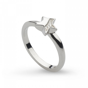 Miniature Sparkle CZ Shining Star Ring