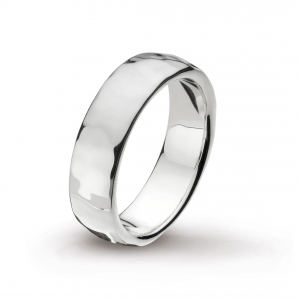 Coast Pebble Hammered 6mm Ring
