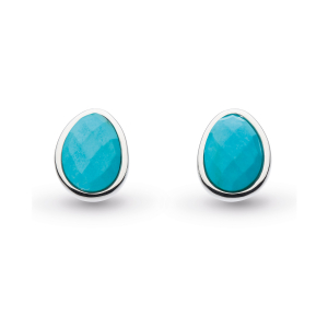 Coast Pebble Turquoise Stud Earrings