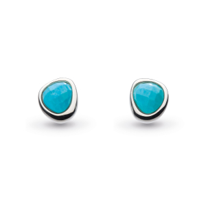 Coast Pebble Turquoise Mini Stud Earrings
