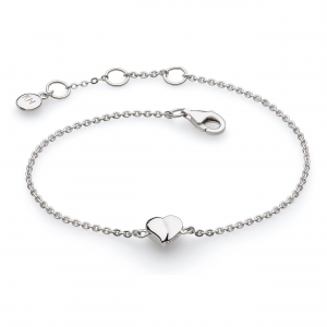 Miniature Sweet Heart Bracelet by Kit Heath in Highly Polished Sterling Silver