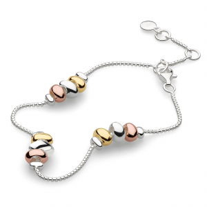 Coast Tumble Trio Station Gold & Rose Gold Bracelet