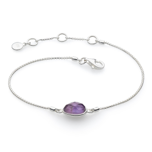 Coast Pebble Stone Amethyst Mini Bracelet