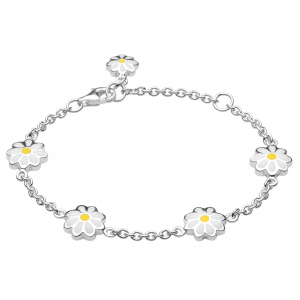 Girls Daisy Enamel Chain Bracelet