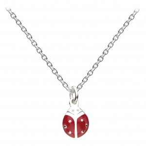 Girls Graceful Ladybird Enamel Necklace