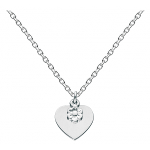 Girls Flower Heart Necklace