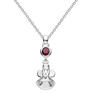 Girls Necklace Fairy Birthstone January