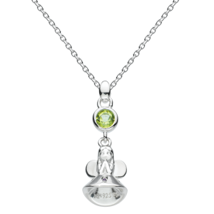 Girls Necklace Fairy Birthstone August