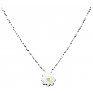 Girls Daisy Enamel Chain Necklace
