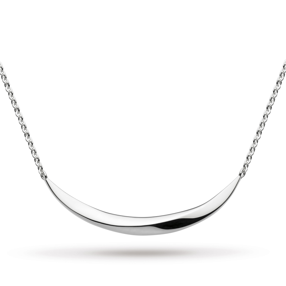 Bevel Curve Small Bar Necklace by Kit Heath