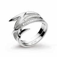 Entwine Helix Pave CZ Ring by Kit Heath in Highly Polished Sterling Silver