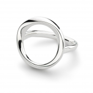 Sterling Silver Bevel Cirque Open Ring by Kit Heath