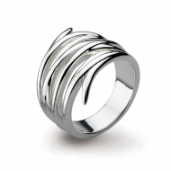 Entwine Helix Wrap Ring by Kit Heath in Highly Polished Sterling Silver