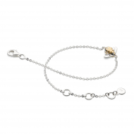 Sterling Silver & Gold Plated Blossom Bumblebee Bracelet by Kit Heath