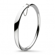 Sterling Silver Bevel Cirque Hinged Bangle by Kit Heath