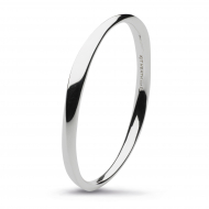 Sterling Silver Bevel Cirque Bangle by Kit Heath