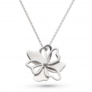 Sterling Silver Blossom Full Bloom Necklace by Kit Heath