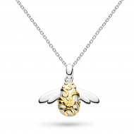 Sterling Silver & Gold Plate Blossom Bumblebee Necklace by Kit Heath