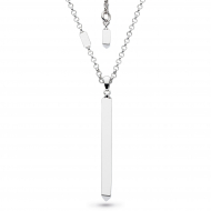 Empire Manhattan Bar Vertical Necklace by Kit Heath in Rhodium Plated Sterling Silver