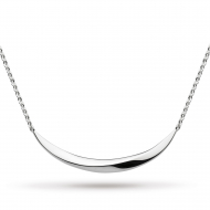 Bevel Curve Small Bar Necklace by Kit Heath in Highly Polished Sterling Silver