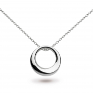 Sterling Silver Bevel Cirque Small Necklace by Kit Heath