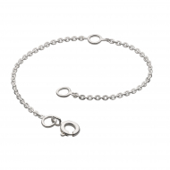 """Rhodium Plated Chain Extender 4"""" by Kit Heath in Rhodium Plated Sterling Silver"""